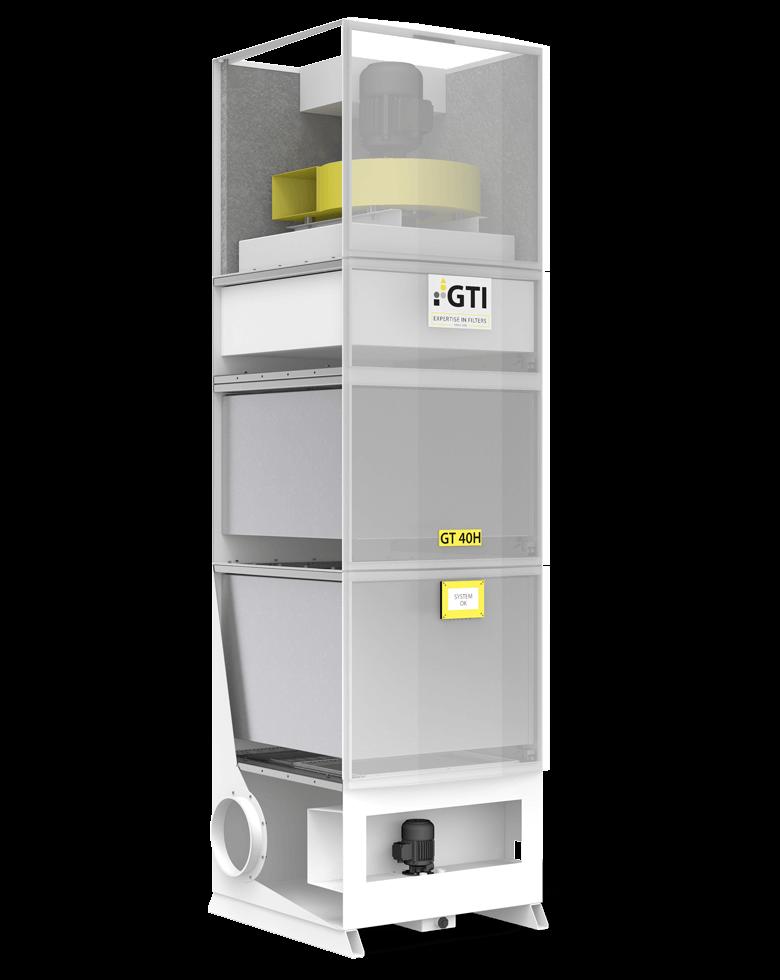 Luftfiltergerät GT-40H Schnittzeichnung