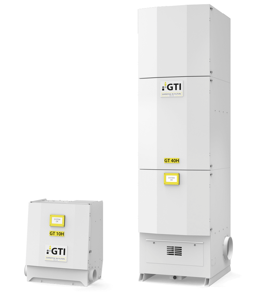 Luftfiltergeräte GT 10H und GT 40H im Größenvergleich
