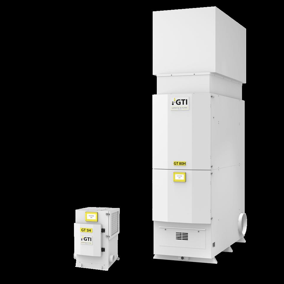 Luftfiltergeräte GT5 H und GT80 H im Größenvergleich