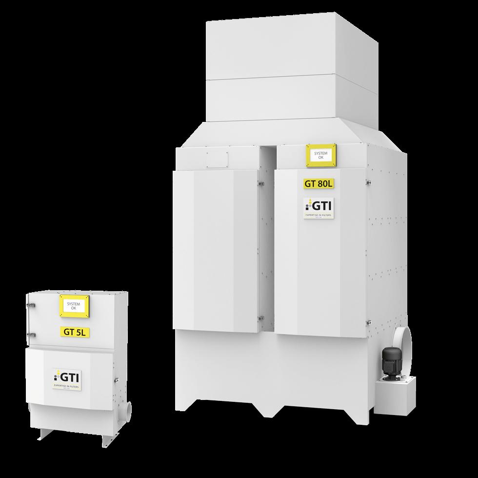 Luftfiltergeräte GT 5L und GT 80L im Größenvergleich
